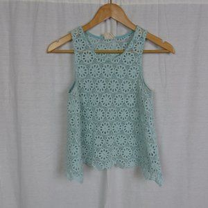 PINS & NEEDLES Urban Outfitters Crotchet Lace Top